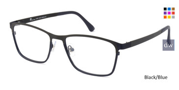 Black/Blue C-Zone XL1502 Eyeglasses.