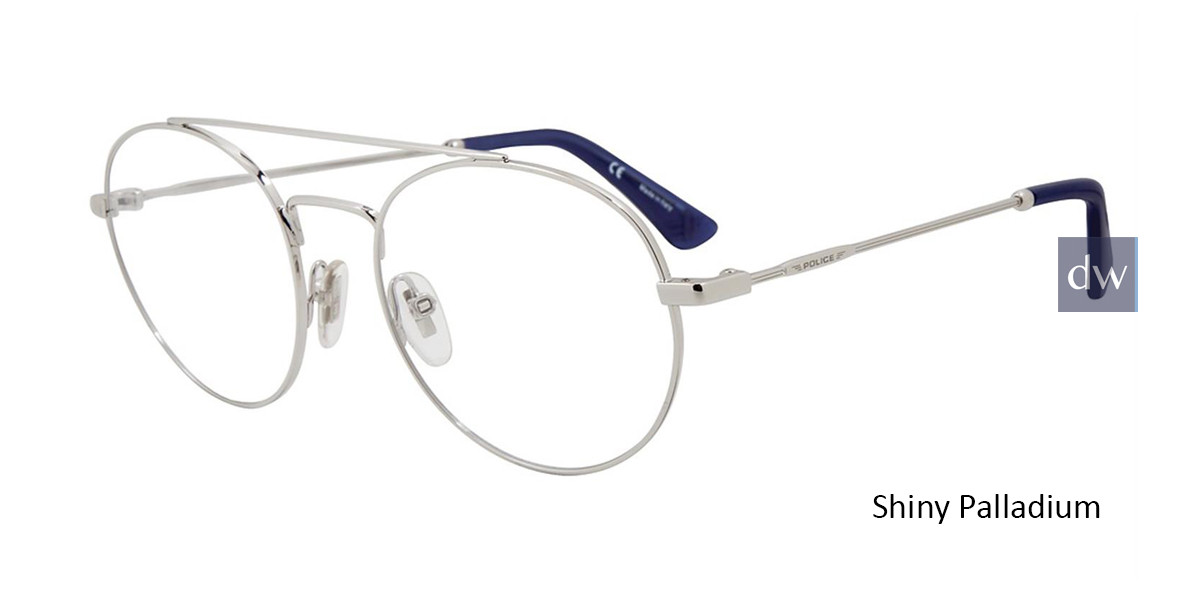 Shiny Palladium Police VLP728 Eyeglasses.