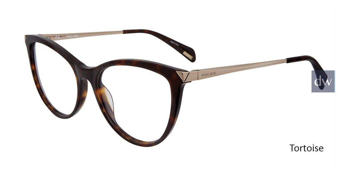 Tortoise Police VPL842 Eyeglasses.