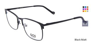 Black Matt Gios Italia GLP100080 Eyeglasses.