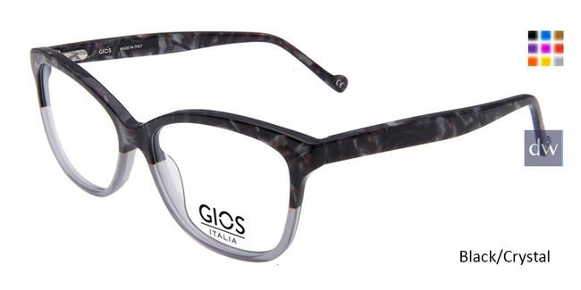 Black/Crystal Gios Italia GRF5000124 Eyeglasses.