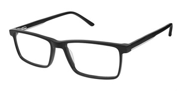 Matte Black/Grey Superflex SF-541 Eyeglasses.