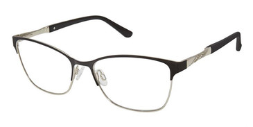 Black/Silver Superflex SF-537 Eyeglasses.