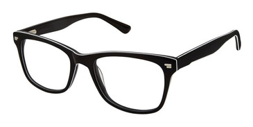 Black White Superflex Kids SFK205 Eyeglasses.
