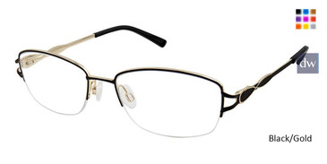 Black/Gold Superflex SF-532 Eyeglasses