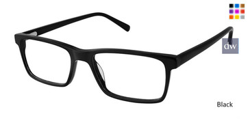 Black Superflex SF-531 Eyeglasses