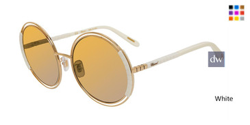 White Chopard SCHC79 Sunglasses