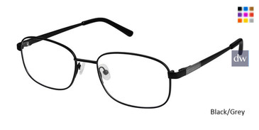 Black/Grey Superflex Titan SF-1109T Eyeglasses