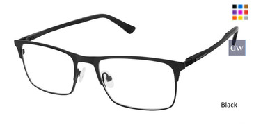 Black Superflex Titan SF-1107T Eyeglasses