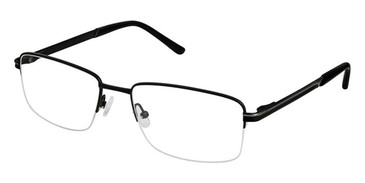 Black Superflex Titan SF-1102T Eyeglasses.