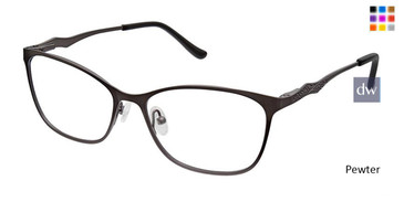 Pewter Superflex Titan SF-1100T Eyeglasses