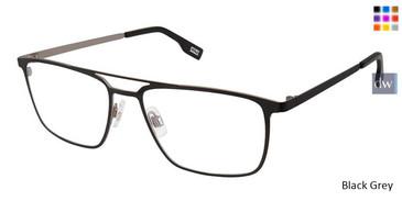 Black Grey Evatik 9186 Eyeglasses