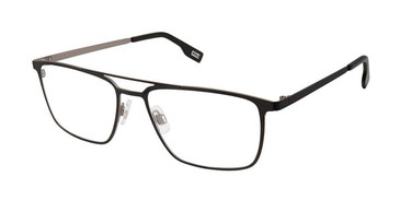 Black Grey Evatik 9186 Eyeglasses.