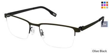 Olive Black Evatik 9184 Eyeglasses