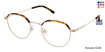 Havana Gold Evatik 9182 Eyeglasses - Teenager