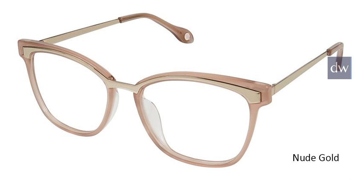 Nude Gold Fysh 3620 Eyeglasses.