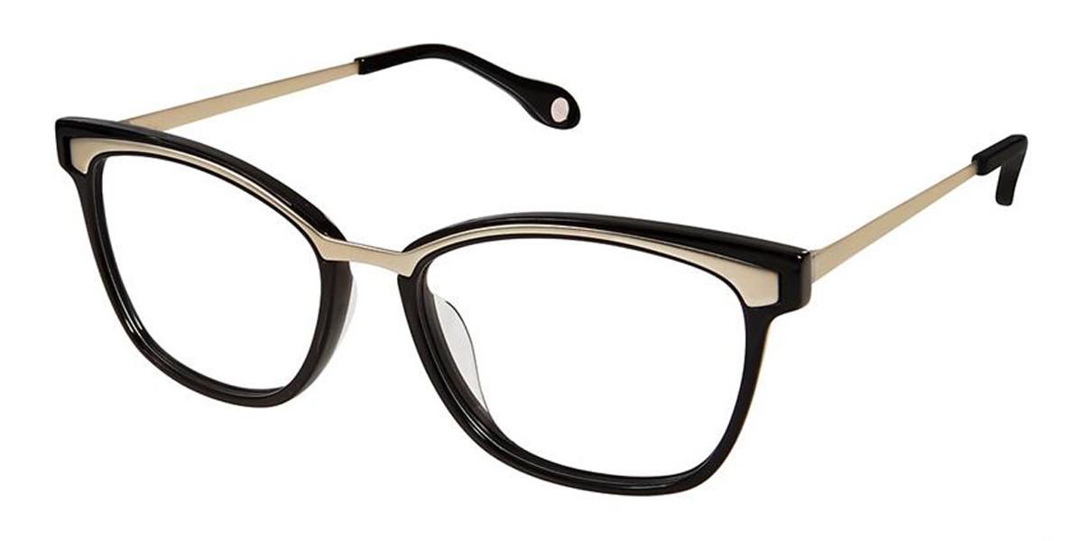 Black Matt Gold Fysh 3620 Eyeglasses.