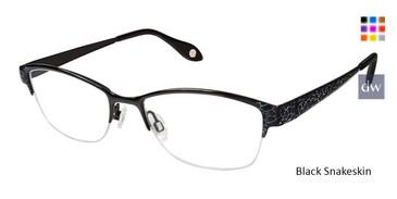 ed96f849a29 Black Snakeskin Fysh 3626 Eyeglasses.