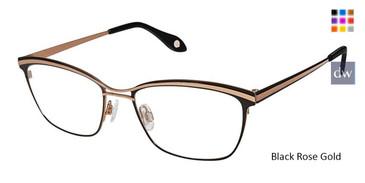 Black Rose Gold Fysh 3628 Eyeglasses.