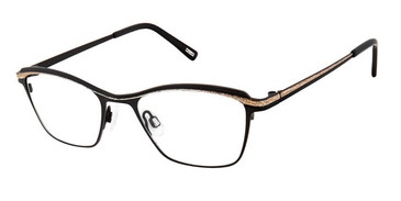 Black Gold Dust Kliik Denmark 643 Eyeglasses.