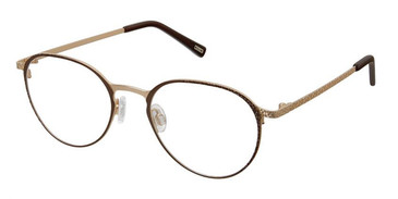 Brown Gold Kliik Denmark 641 Eyeglasses.