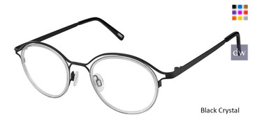 Black Crystal Kliik Denmark 635 Eyeglasses.