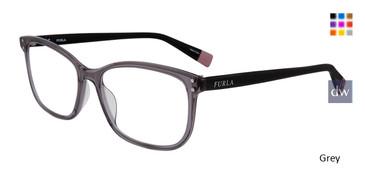 Grey Furla VFU198 Eyeglasses.