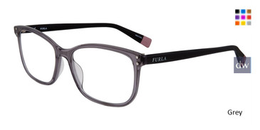 Grey Furla VFU198 Eyeglasses.