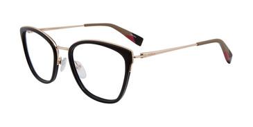 Black Furla VFU253 Eyeglasses.