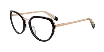 Black Furla VFU255 Eyeglasses.