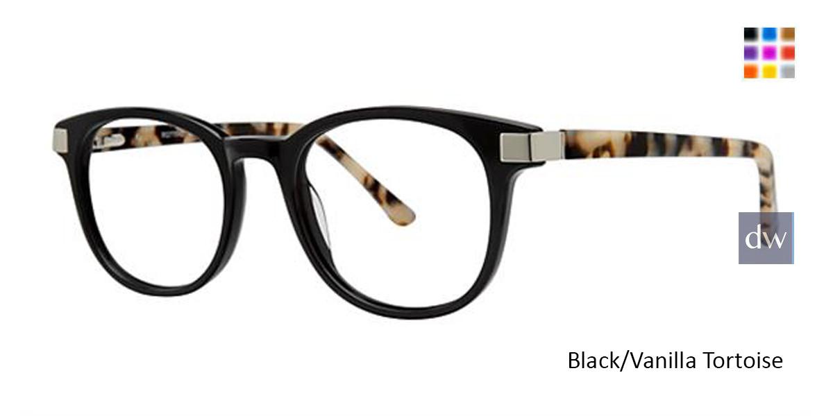 Black/Vanilla Tortoise Romeo Gigli 77042 Eyeglasses.