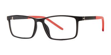 Black/Red K12 4112 Eyeglasses