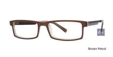 Brown Petrol Wired 6010 Eyeglasses.