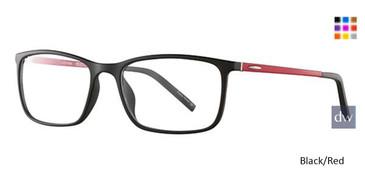 Black/Red Wired 6060 Eyeglasses.