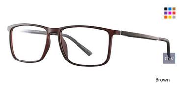 Brown Wired 6062 Eyeglasses.