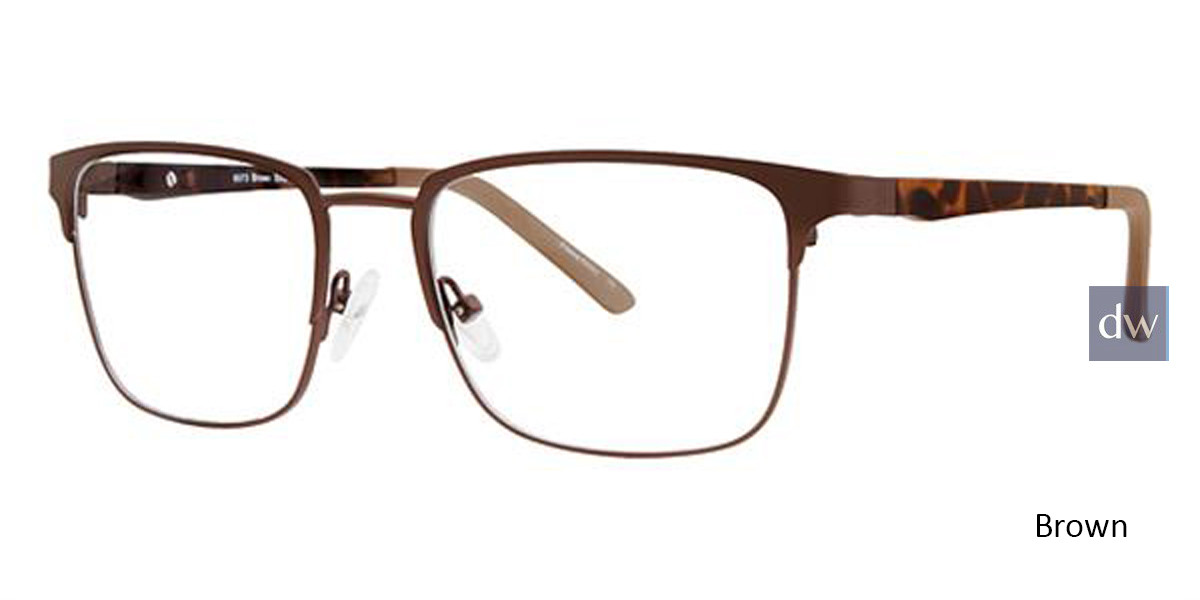 Brown Wired 6073 Eyeglasses.