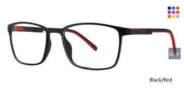 Black/Red Wired 6085 Eyeglasses.