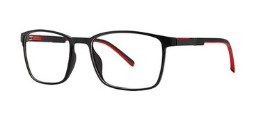 Black/Red Wired 6085 Eyeglasses.