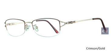 Crimson/Gold Avalon 5017 Eyeglasses.