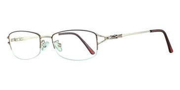 Crimson/Gold Avalon 5017 Eyeglasses.