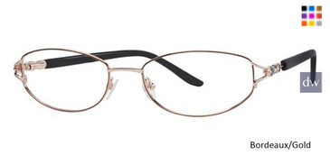 Bordeaux/Gold Avalon 5019 Eyeglasses.