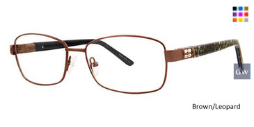 Brown/Leopard Avalon 5052 Eyeglasses.