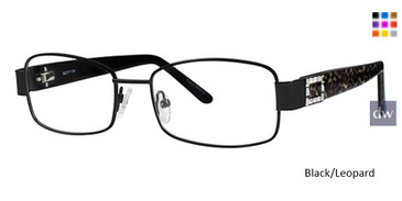 Black/Leopard Avalon 5057 Eyeglasses.