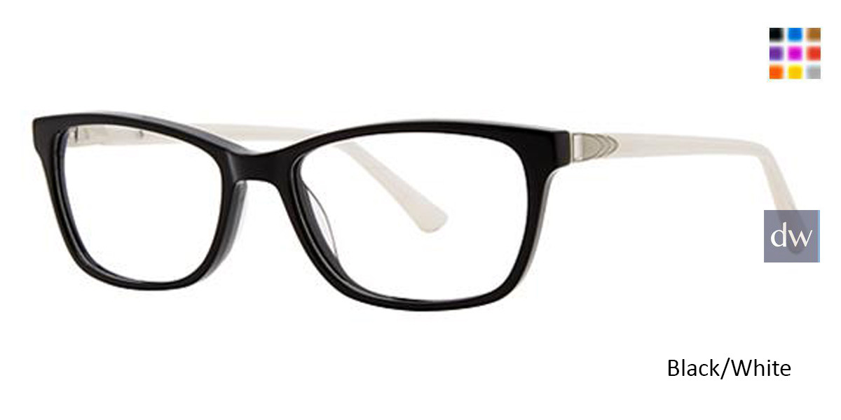Black/White Avalon 5071 Eyeglasses.