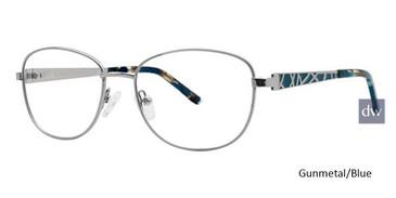 Gunmetal/Blue Avalon 5073 Eyeglasses.