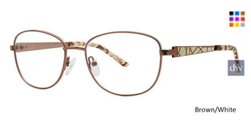 Brown/White Avalon 5073 Eyeglasses.