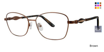 Brown Avalon 5076 Eyeglasses.