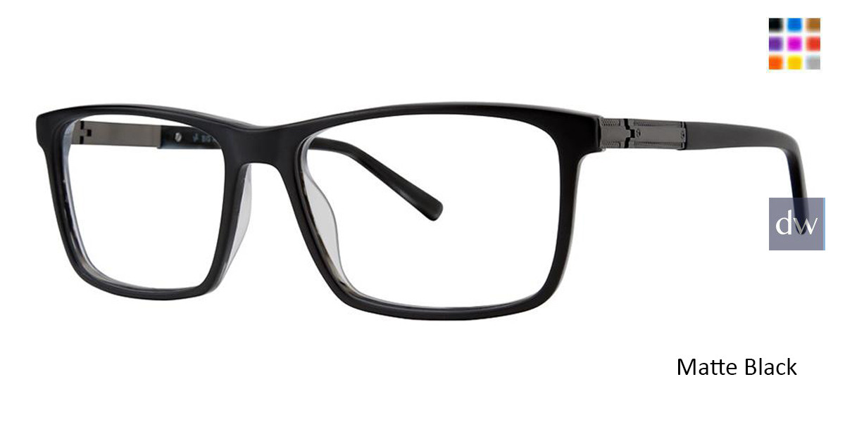 Matte Black Big And Tall 19 Eyeglasses.