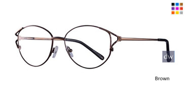 Brown Parade Q Series 1620 Eyeglasses.