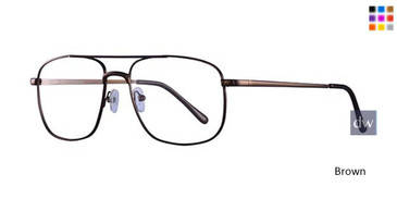Brown Parade Q Series 1624 Eyeglasses.